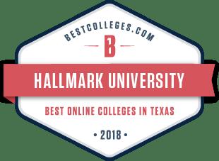 HU Best Online Colleges in Texas 2018 badge